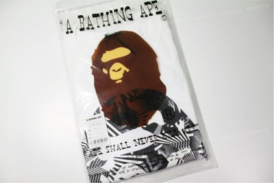 A Bathing APE BAPE 幾何迷彩 猿人 大頭 短袖tee T-shirt sz.XL - 現貨
