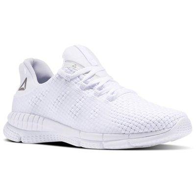 REEBOK ZPRINT RUN Woven 全白 編織 輕量 跑鞋 女 運動 健身房 BS5412 YTS
