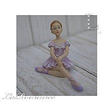 【義大利 Cupido & Company 特惠系列】 紫色芭蕾舞女擺飾 (優雅坐姿) / 童趣人物