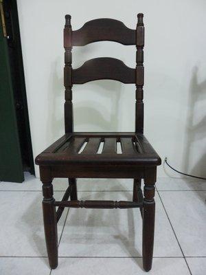 紫色小館-42--------早期原木椅