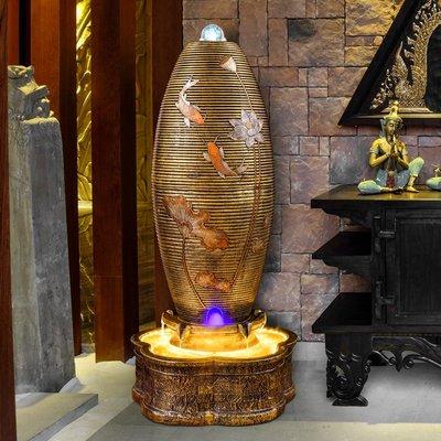 假山流水噴泉招財風水球加濕器陽臺景觀辦公室內客廳開業裝飾擺件小豬佩奇