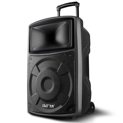 15寸廣場舞音響播放器拉桿行動戶外音箱家用K歌帶無線話筒
