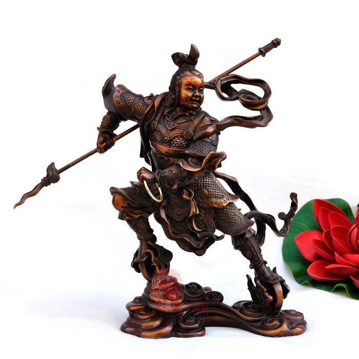 【凡了居】純銅佛像人物擺件哪?三太子仿古鎮宅家居裝飾工藝品 雙福626