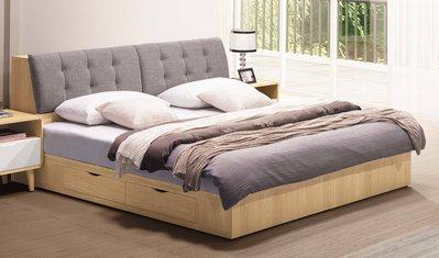 【生活家傢俱】SY-18-(4+5)※喬迪6尺雙人床【台中18000送到家】床頭箱+抽屜床底 插座 木心板 台灣製造