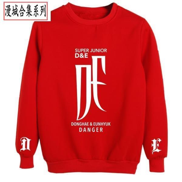 SUPER JUNIOR銀赫東海D&E專輯Danger周邊應援服同款套頭圓領衛衣 ky606
