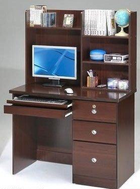 桃園國際二手貨中心 --- 3.4尺三抽電腦桌 共兩色可選(白橡色+胡桃色)