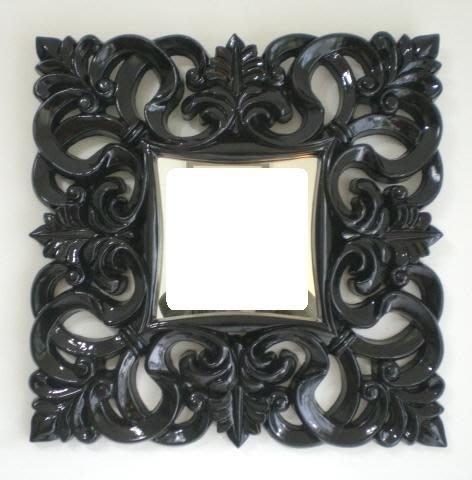 美學空間《ANNA SUI安娜蘇風格神秘高亮黑框鏡-化妝鏡.裝飾鏡.玄關鏡.餐廳鏡‧設計師的鏡子