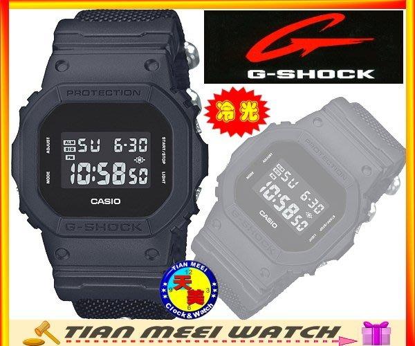 現貨【CASIO原廠貨】【天美鐘錶店家直營】【超低價有保固】G SHOCK 絕對強悍 帆布錶帶 DW-5600BBN-1