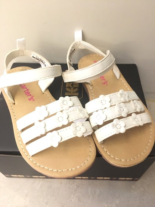 【美國MOMMY市集】美國 Carter's Sunshine 小碎花系列涼鞋 防滑 皮革舒服 基本款