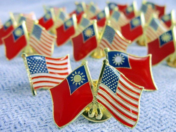 【衝浪小胖】台灣、美國雙旗徽章50入組/中華民國/Taiwan/USA