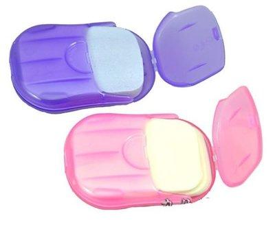 【附發票 神來也】旅遊方便攜帶 洗手香皂片.紙香皂.肥皂紙 隨機出貨