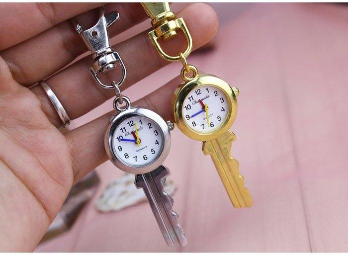 福福百貨~ 清晰數字中老年老人鑰匙扣懷錶/ 學生防水石英手錶考試用手錶/裝飾掛錶~