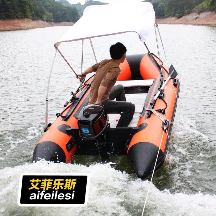 聚吉小屋 #新款皮劃艇充氣船加厚鋁地板橡皮艇充氣艇沖鋒艇釣魚船救生艇包郵