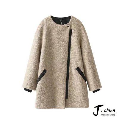 J.chien ~[全館免運] 秋冬時尚韓版顯瘦大衣 韓版 長版大衣 毛呢大衣 外套