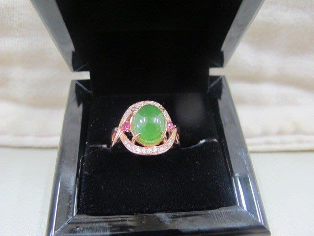 二手舖 NO.741 (天然翡翠A貨) 滿綠翡翠戒指 飾品 原價打75折