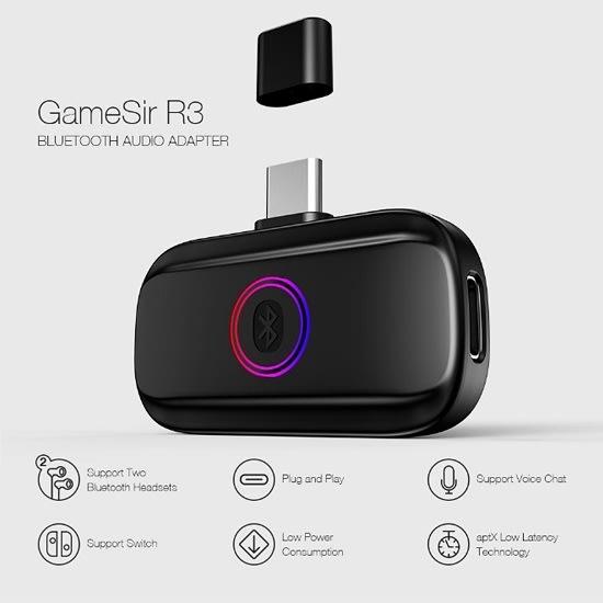 [哈GAME族]GameSir 蓋世小雞 R3 NS 藍牙無線耳機接收器 支援麥克風 免驅動 輕巧迷你