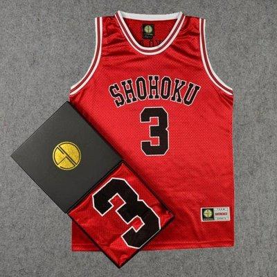 球服訓練服灌籃高手隊服湘北3號赤木晴子籃球服籃球衣背心紅色 LOVELIFEE