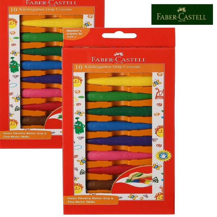 輝柏 學齡子彈可擦拭蠟筆-10色 繪畫/彩繪 §小豆芽§ Faber-Castell 輝柏 學齡子彈可擦拭蠟筆-10色