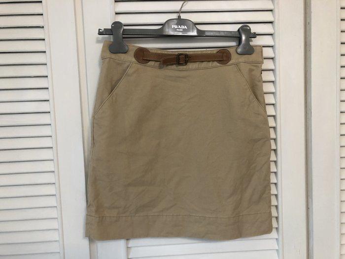 原價兩萬多 Ralph Lauren PL 藍標皮質腰飾丹寧短裙