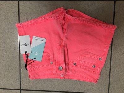 美國正品7 for all mankind super soft color denim (10) 螢光粉時髦鬚鬚短褲