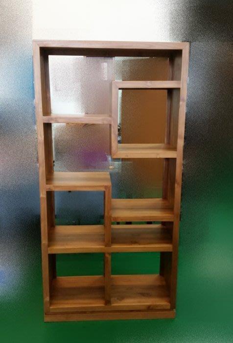 樂居二手家具 TK-A0E0 *全新柚木書櫃 實木書架* 原木書架 藝品展示櫃 高低櫃 酒櫃 置物櫃 隔間屏風櫃