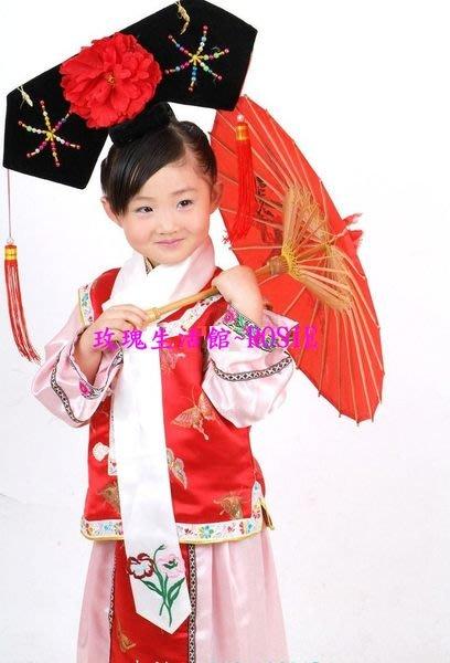 【玫瑰生活館】~~ 兒童格格裝,女童格格服,小燕子格格(帽子有時為3朵花)