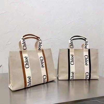 Chloe Woody托特包 手提袋 購物袋 手提包 帆布包 購物包 單肩包 肩背包 公事包 包包 精品包 休閒女包