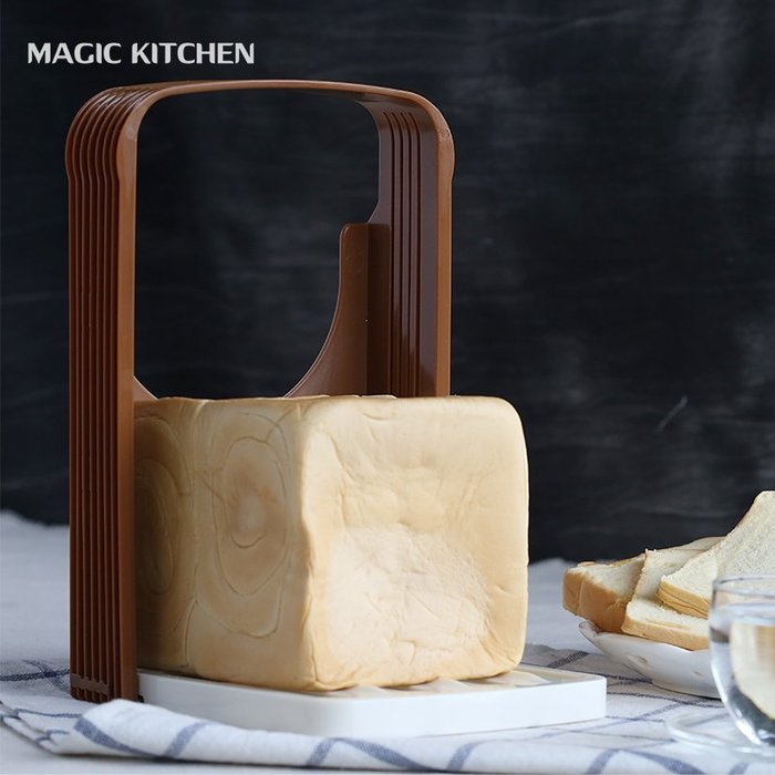 千夢貨鋪-面包切片器家用烘焙工具吐司切片分片器烘焙工具切片器#搟面杖#菜板#長筷子#實木#打蛋器