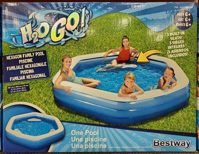 【小如的店】COSTCO好市多代購~Bestway 六角形家庭泳池/戲水池(1入) 2621037