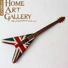 美式牆面牆上裝飾品鐵藝樂器吉他壁飾創意酒吧奶茶服裝店牆壁裝飾