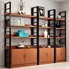 簡歐鋼木書架辦公室展示架客廳收納架