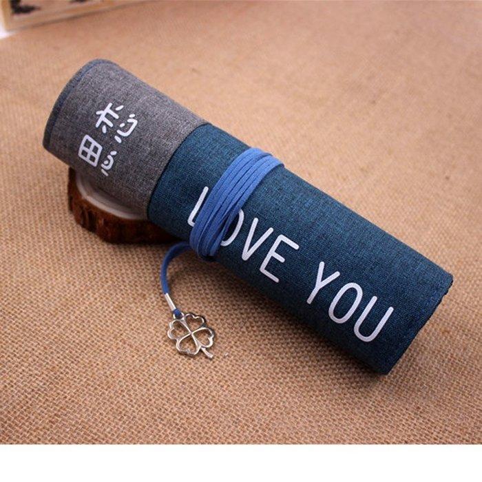 MY#爆款#韓款創意簡約卷筆袋多功能大容量個性小清新學生男女筆簾收納袋