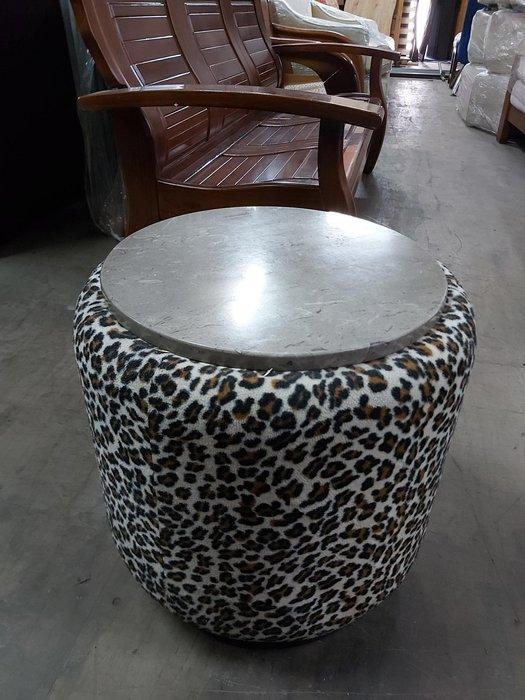 巨業搬運寄倉=更新二手倉庫 豹紋椅凳 椅子 圓椅凳 茶几 洽談桌 石面