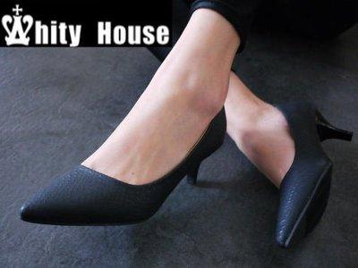 =WHITY=韓國FUPA品牌 韓國製  歐美大牌設計 時尚蛇紋尖頭OL中跟鞋 好穿推薦 S4GAA72