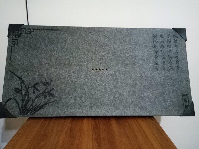 天使熊雜貨小舖~烏金石茶盤 尺寸(約)長60×寬30×厚2.6cm 全新現貨