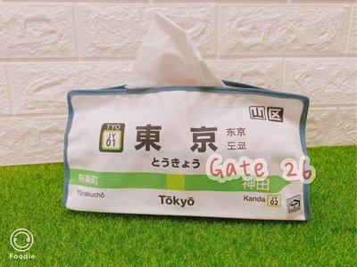 ⭐️現貨在台不用等⭐️ 日本JR 山手線 面紙盒 面紙套 日本特色小物