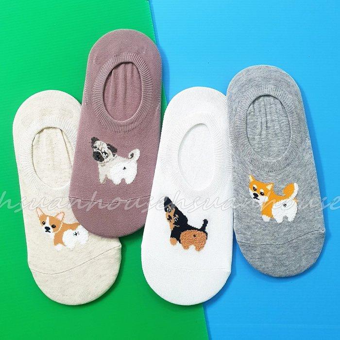 韓國 ㊣韓 柯基 臘腸 巴戈 柴犬 小狗 狗狗 防滑隱形襪 防滑膠條 隱形襪 船形襪 襪子 棉襪