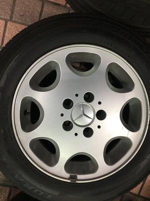 中古 賓士 15吋鋁圈含胎 Benz w201 w202 w203 w124 w210 r170 一組四個含胎6800元