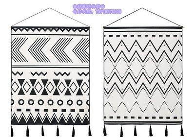 ❀蘇蘇購物館❀且聽風吟簡約設計師現代掛毯北歐掛布ins掛畫
