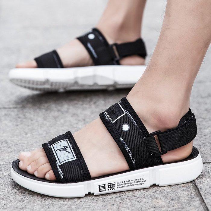 TIME&NES~涼鞋男2020夏季新款休閒外穿拖鞋男ins潮流沙灘鞋青少年運動涼拖