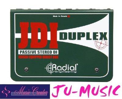 造韻樂器音響- JU-MUSIC - Radial JDI Duplex DI  消除接地迴路的嗡嗡聲『公司貨,免運費』