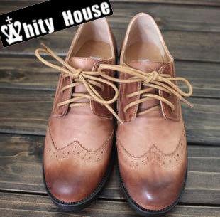 =WHITY=  韓國GRAMMI品牌韓國製森林系女孩完美中跟全真皮牛津鞋自留推薦 SUDD801