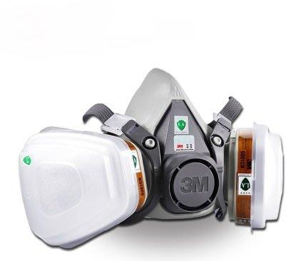 3M 6200防毒面具+6001CN一包2個+5N11CN一盒10片 7件組噴漆甲醛氣體化工農藥