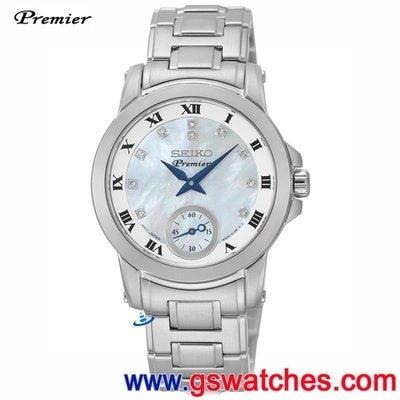 【金響鐘錶】全新SEIKO SRKZ61J1, PREMIER, 公司貨, 日本製, 時尚女錶, 藍寶石, 6G28-00T0M 台北市