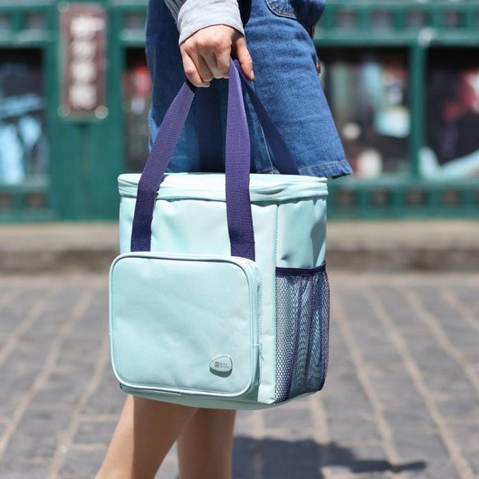 飯盒袋飯盒包手提包手拎女包帆布保溫袋子鋁箔加厚媽咪帶飯便當包