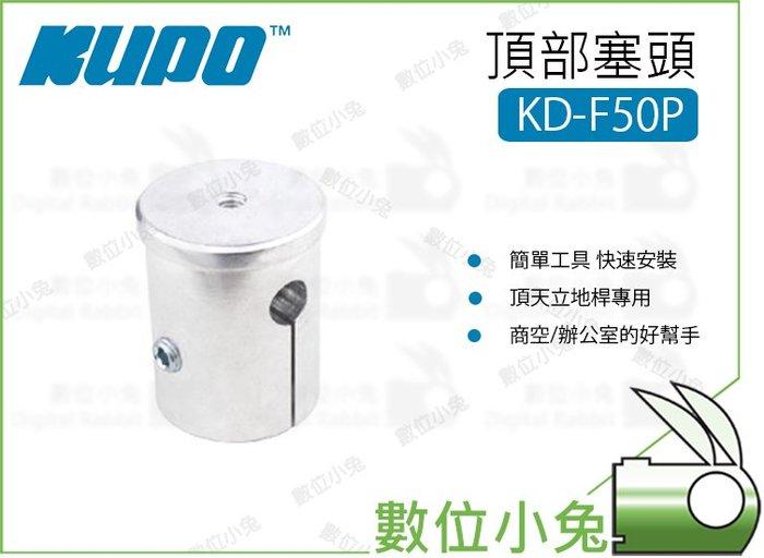 數位小兔【Kupo KD-F50P 頂部塞頭】層架 配件 塞頭 頂天立地桿專用 鋁合金