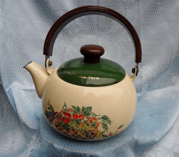 紫色小館4-----早期茶壺(直徑14公分.高23公分含手把)