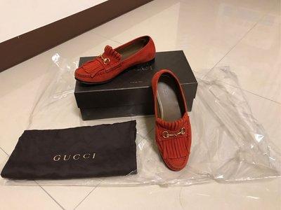 GUCCI 小紅鞋(麂皮流蘇款)