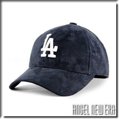 【PD帽饰】【ANGEL NEW ERA 】MLB Old Fashioned Cap LA 道奇 類 麂皮 老帽 深藍 鴨舌