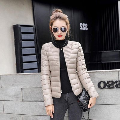 羽絨服 2019新款冬季棉衣女短款輕薄修身羽絨棉服外套女裝顯瘦速賣通棉襖